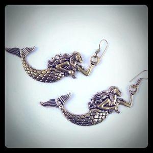18K Gold Overlay - Mermaid Earrings 🔥 HOT!